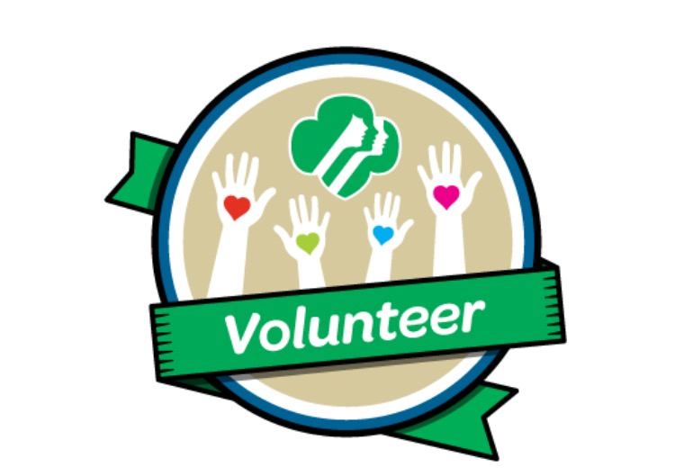 Volunteer with Girl Scouts