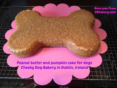 Peanut butter cake for dogs
