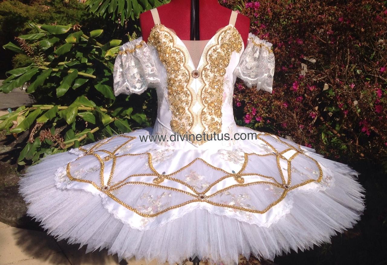 Aurora - white and gold tutu & Divine Classical Ballet Tutus