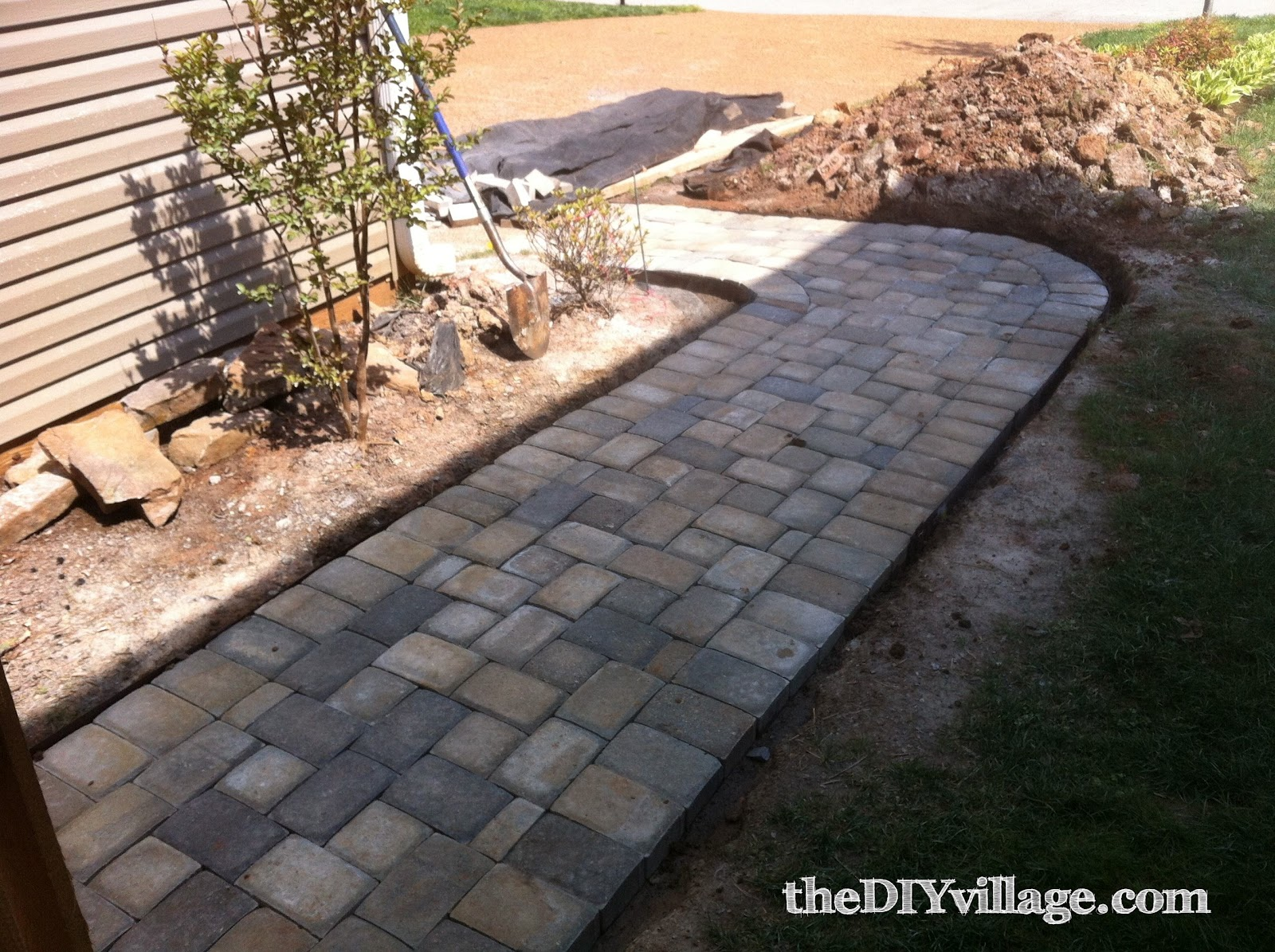 Paver Path Hard Work But Worth Every Sore Muscle The