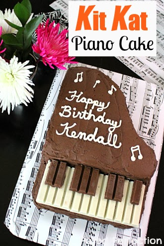 Kit Kat Piano Cake- Top 10 Recipes of 2014