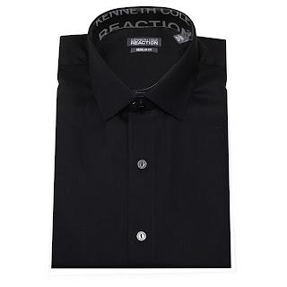 Kenneth Cole Reaction 100% Cotton Tone on Tone Spread Collar Tonal Regular Fit Men's Dress Shirt