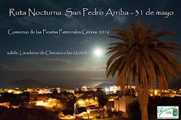 Ruta Nocturna y bienvenida al mes de San Pedro. Pincha  en el cartel