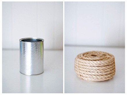 Macam-macam Kerajinan Tangan , Cara Membuat Vas Kaleng Bekas :