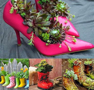 creative recycling  ideas for your garden