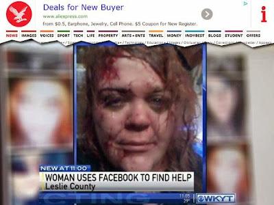 Postar foto de agressão no Facebook