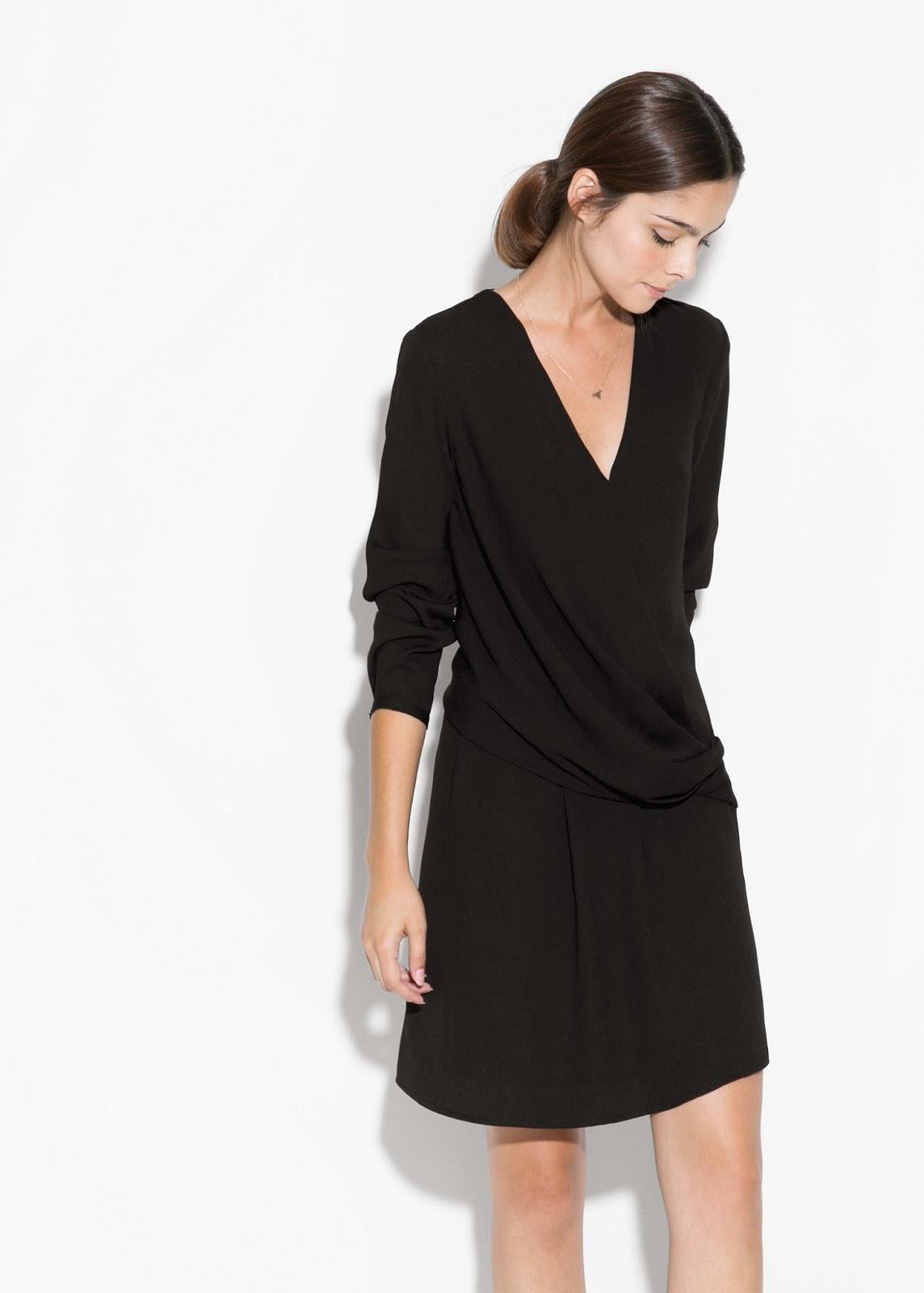 mango black wrap dress