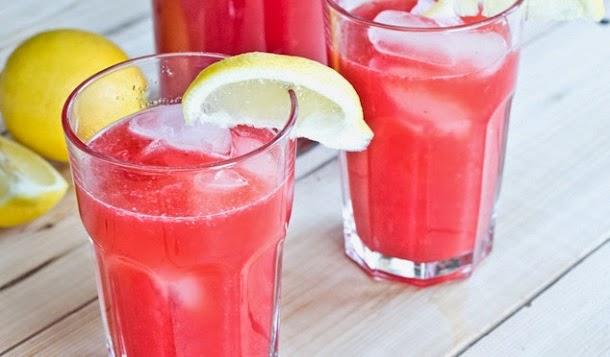 Receita de limonada de framboesa