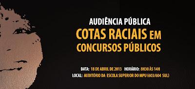 Audiência Pública Cotas Raciais no Concurso Público