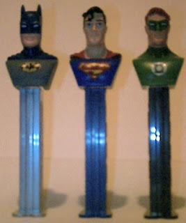 Justice League PEZ trio