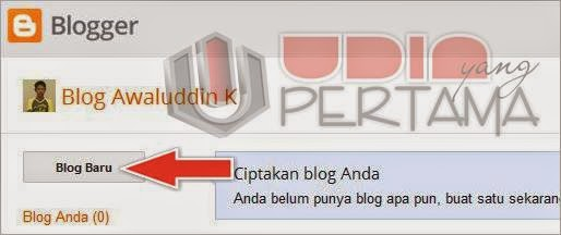 Cara terbaru membuat blog gratis di blogspot