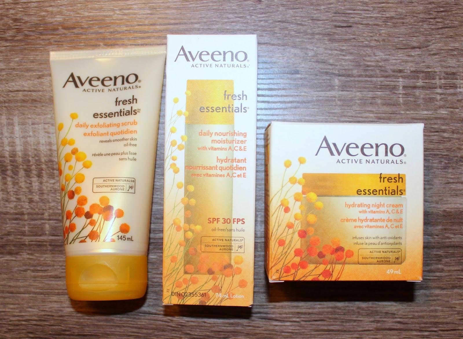 Aveeno Fresh Essentials Line