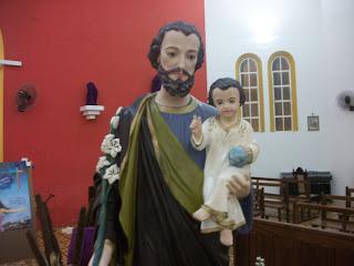 Imágem de São José visita a capela de Nossa Sra. do P. Socorro