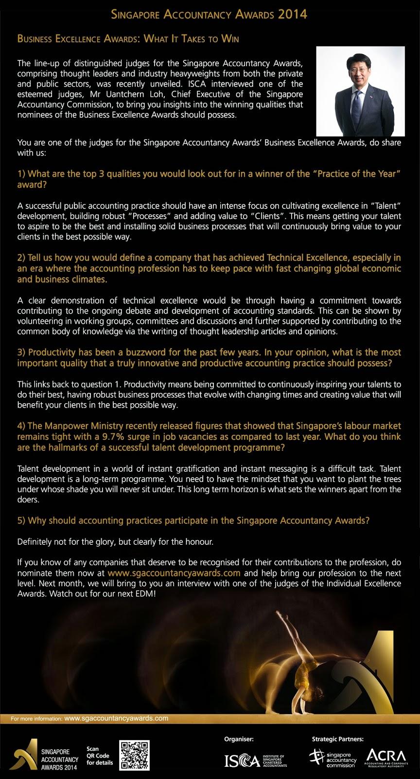 SAA2014 Exclusive Interview with Mr Uantchern Loh
