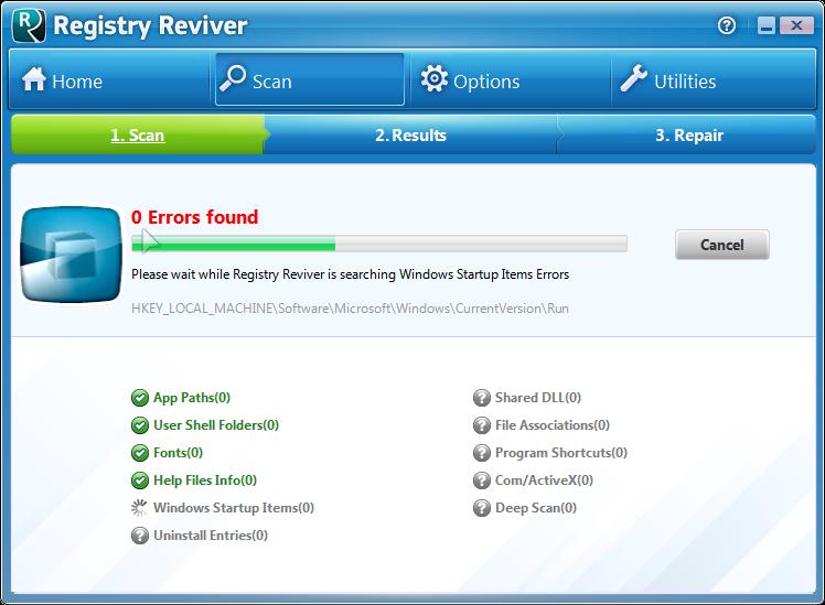 برنامج Registry Reviver لاصلاح وتنظيف الريجستري