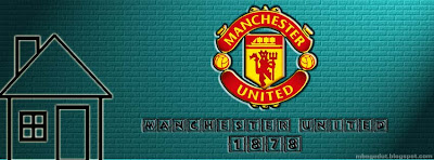 Manchester United Facebook Cover Blue Brick