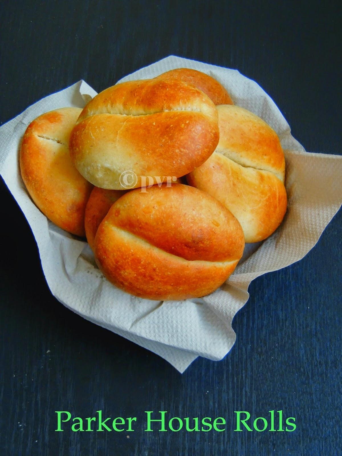 Priya's Versatile Recipes: Eggless Parker House Rolls