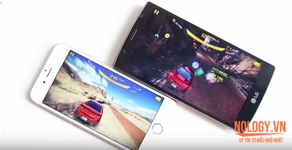 So sánh hiệu năng iPhone 6 Lock và LG G4
