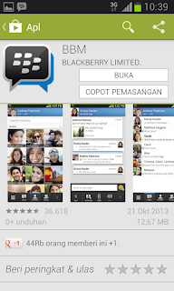 BBM Android di Play Store