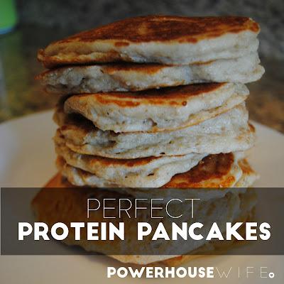 fluffy, moist, yummy protein pancakes