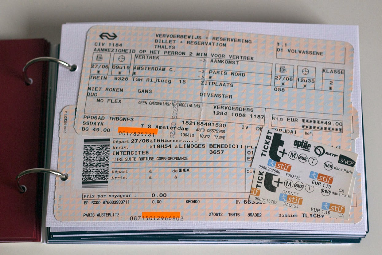 trainticket to Limoges, France