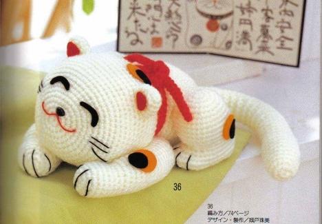 Кот японский белый