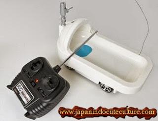 Toilet Remote Control Tenaga Batrei Asal Jepang