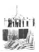 I comunisti fanno al tiro a segno con lo statua del Cristo a Madrid