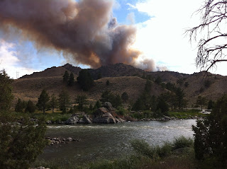 Wyoming fly fisher miracle mile fire for Miracle mile fishing