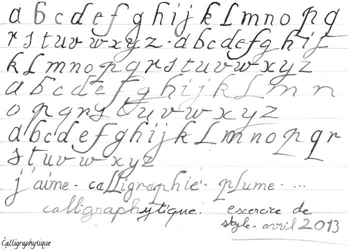 Bien connu Essais et Exercices de Calligraphie: avril 2013 BP75