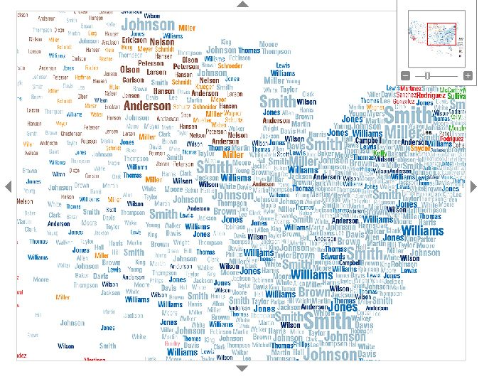 Floatingsheep Guest Map Surnames In The US - Interactive us surnames map