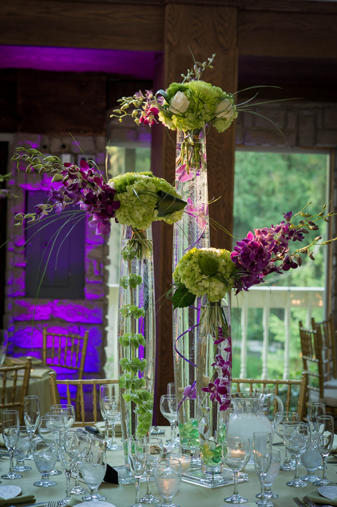Purple And Green Tall Centerpieces : Classic purple green ballroom wedding belle the magazine