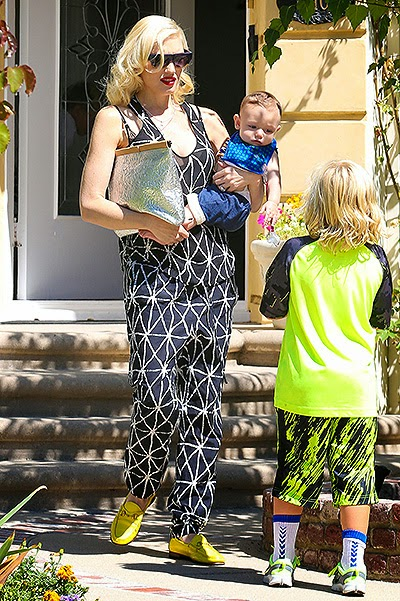 Gwen Stefani with sons in Los Angeles