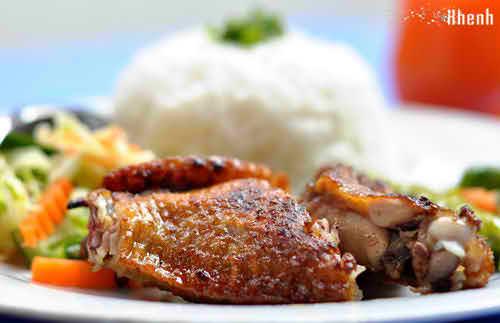 Thơm lừng cơm thịt nướng than hoa phố Đào Duy Từ, diemanuong365, diem an uong 365