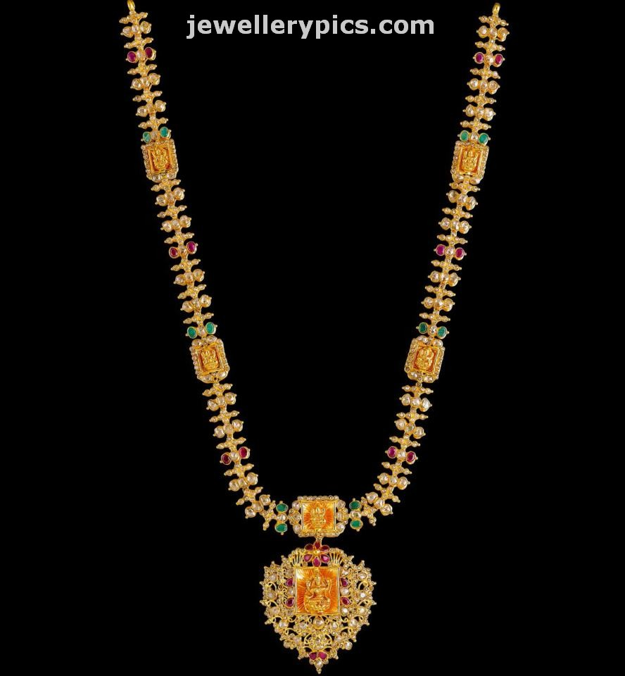 Kalyan Jewellers Gold Necklace Designs By Anoki Collection