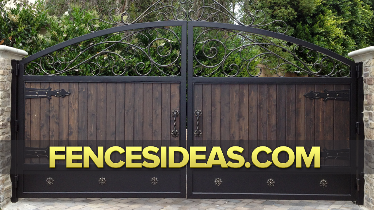 Wrought iron fences gate design ideas