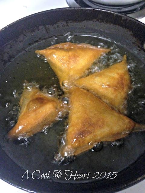deep fried tortilla samosa