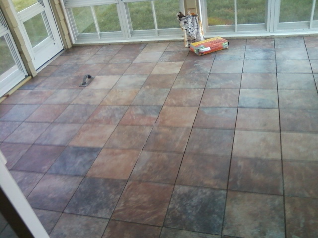 The On Line Buzzletter Installing Tile Floor On Sun Porch Part 2