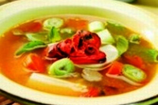 Rainbow Tahu Soup. Nusantara Culinary