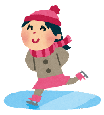 スケートのイラスト「女の子」