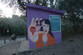 mural que hicimos n la garita del bus