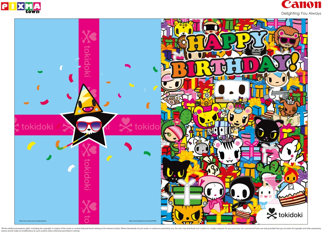 Canon pixma arts craft series of birthdays and scrap booking 1 tokidoki birthday card jeuxipadfo Images