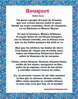 Poema Bouquet de ruben dario