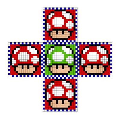 Encajar cubo hecho con Hama Beads