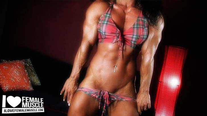 Debbie Bramwell Modeling Her Ripped Muscles