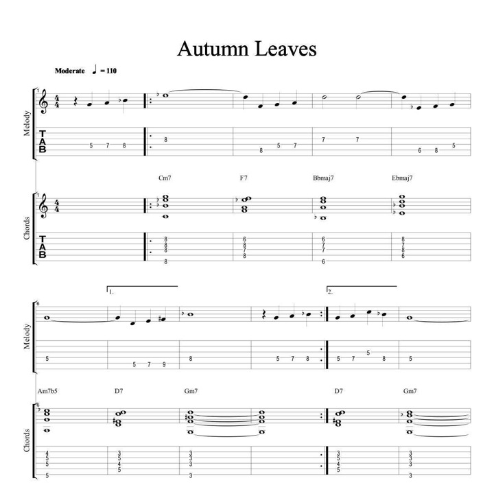 Autumn Lights Picture Autumn Leaves Chords