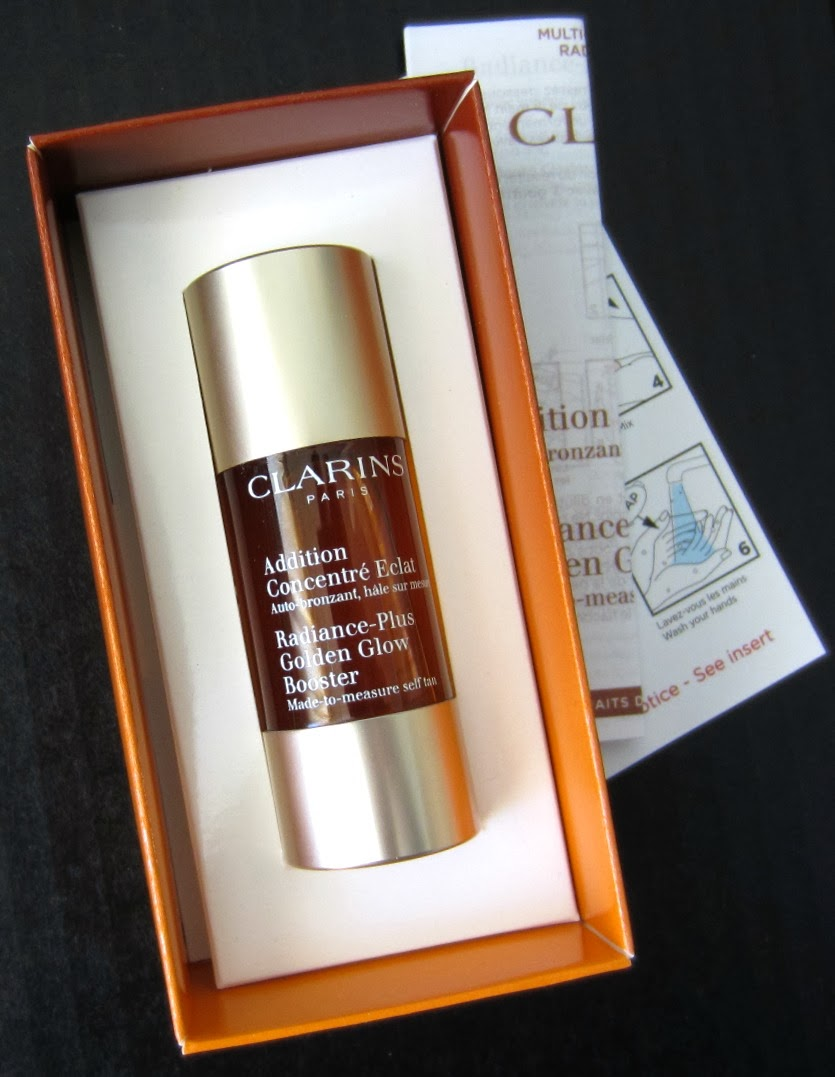 From the clarins web site first ever self tanning innovation just 3 drops added to your day and or night moisturizer warm the complexion with a
