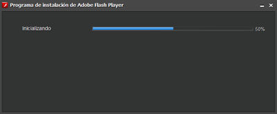 Pantalla de instalación de Adobe Flash Player.