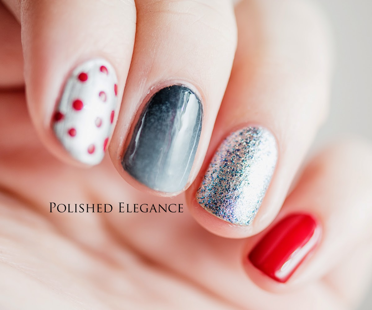 OPI - Fifty Shades Of Grey manicure nail art