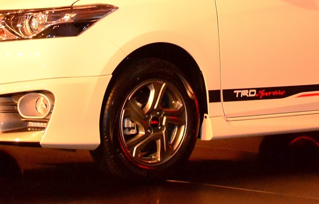 Toyota Vios 1.5 TRD Sportivo rim design